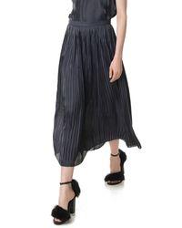 Tibi - Black Flume Pleated Skirt - Lyst