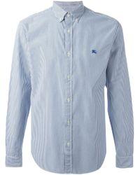 Burberry Brit | Blue Stripes Print Shirt for Men | Lyst