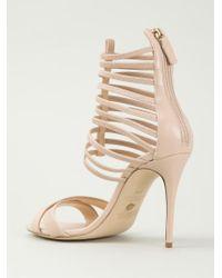 Jerome C. Rousseau - Natural Strappy Stiletto Sandals - Lyst