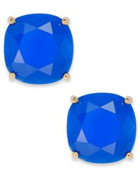 Kate Spade | Gold-Tone Blue Stone Stud Earrings | Lyst