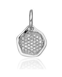 Monica Vinader | Metallic Riva Diamond Mini Pendant | Lyst