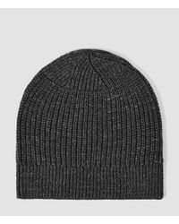 AllSaints - Black Ektarr Beanie Hat Usa Usa for Men - Lyst