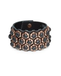 Giles & Brother | Pink Woven Leather Hexagon Bracelet | Lyst