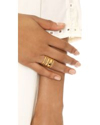 Madewell Metallic Stack Stone Ring - Vintage Gold