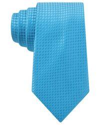 Michael Kors - Blue Michael Primary Tile Slim Tie for Men - Lyst