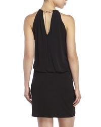 Jessica Simpson | Black Bungee Neck Dress | Lyst