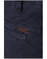 BOSS Orange Blue Regular-fit Shorts In Linen: 'stimo2-shorts-d' for men