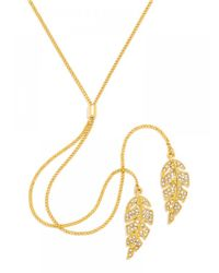 BaubleBar | Metallic Double Feather Y-chain | Lyst