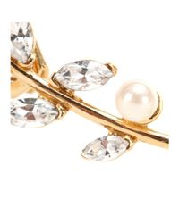Joanna Laura Constantine - Metallic Gold-plated Ear Cuff With Pearls And Swarovski Crystals - Lyst