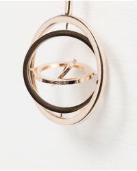 Zara | Metallic Circle Design Earrings | Lyst