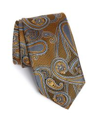 JZ Richards - Yellow Paisley Silk Tie for Men - Lyst