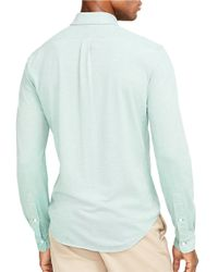 Polo Ralph Lauren | Green Knit Oxford Sportshirt for Men | Lyst