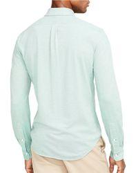 Polo Ralph Lauren | Green Knit Oxford Sportshirt for Men | Lyst