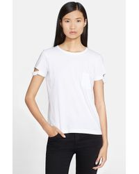 Helmut Lang - White Cotton Pocket Tee - Lyst