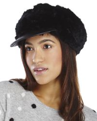 Surell | Black Real Rabbit Fur Driver Hat | Lyst