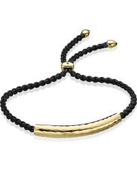 Monica Vinader | Black Esencia Friendship Bracelet | Lyst