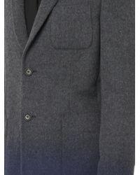 Balenciaga - Blue Dégradé Wool Coat for Men - Lyst