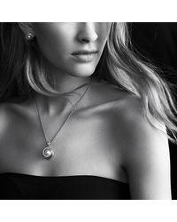 David Yurman - Metallic Pearl Crossover Earrings With Diamonds In Gold - Lyst