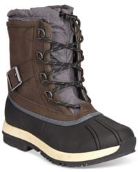 BEARPAW - Brown Nelly Lace-up Waterproof Booties - Lyst