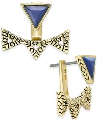 House of Harlow 1960 | Metallic Gold-tone Navy Pyramid Ear Jackets | Lyst