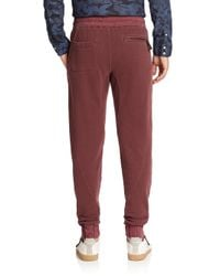 Madison Supply - Black Cuffed Cotton Sweatpants for Men - Lyst