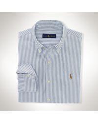 Polo Ralph Lauren - Blue Striped Oxford Sport Shirt for Men - Lyst