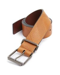 Burberry Brit | Brown 'Cory' Embossed Check Leather Belt for Men | Lyst