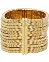 Lanvin - Metallic Crystal-embellished Multi-strand Snake-chain Bracelet - Lyst