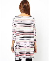 Cheap Monday - Gray Stripe Top - Lyst