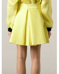 Fausto Puglisi - Yellow Pleat Detail Skirt - Lyst