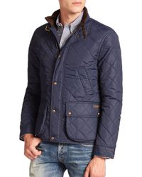 Polo Ralph Lauren - Blue Cadwell Quilted Bomber Jacket for Men - Lyst