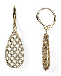 Nadri - Metallic Lattice Long Drop Earrings - Lyst