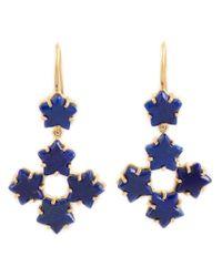 Marie-hélène De Taillac - Blue 22kt Gold Lapis Lazuli Star Drop Earrings - Lyst