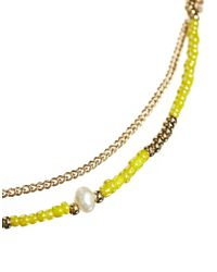ASOS | Yellow Fine Seedbead Choker Necklace | Lyst