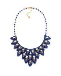 Carolee | Blue Petals Enamel Flower Statement Necklace | Lyst
