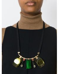 Marni - Black Multiple Pendant Necklace - Lyst