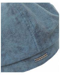 Stetson - Blue Hatteras Leather Cap for Men - Lyst
