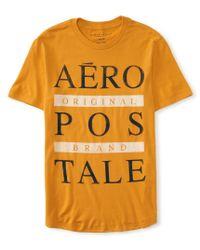 Aéropostale | Orange Aero Original Logo Graphic T | Lyst