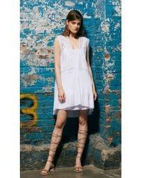 Tibi - White Mosaic Embroidered-Cotton Dress - Lyst