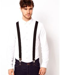 ASOS - Black Wide Braces for Men - Lyst