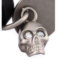 Alexander McQueen   Black Valour Print Skull Charm Bracelet for Men   Lyst