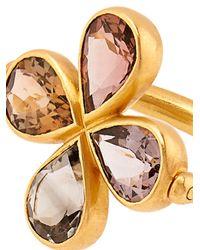 Marie-hélène De Taillac - Metallic Tourmaline & Yellow-Gold Swivel Ring - Lyst