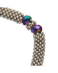 John Lewis - Metallic Crystal Bead Stretch Bracelet - Lyst