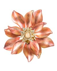 Alexis Bittar | Orange Desert Jasmine Large Flower Pin | Lyst