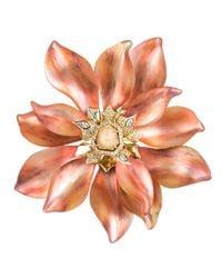 Alexis Bittar - Orange Desert Jasmine Large Flower Pin - Lyst