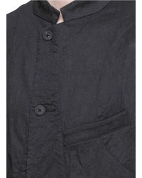 Ziggy Chen - Black Stand Collar Stretch Wool-linen Blazer for Men - Lyst