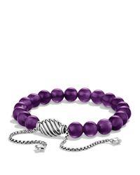 David Yurman | Metallic Spiritual Beads Bracelet With Amethyst | Lyst