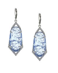 Vince Camuto | Metallic Iridescent Charm Drop Earrings | Lyst