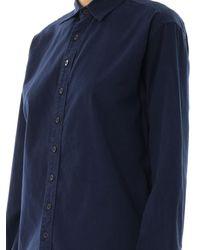 1.61 - Blue Oversized Cotton Shirt - Lyst