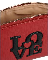 Love Moschino - Red Clutches - Lyst